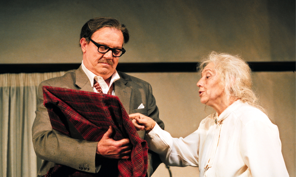 Bille Brown in his own play, Bill and Mary. Image: Queensland Theatre Company